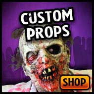 Custom built scares for haunted house decorations